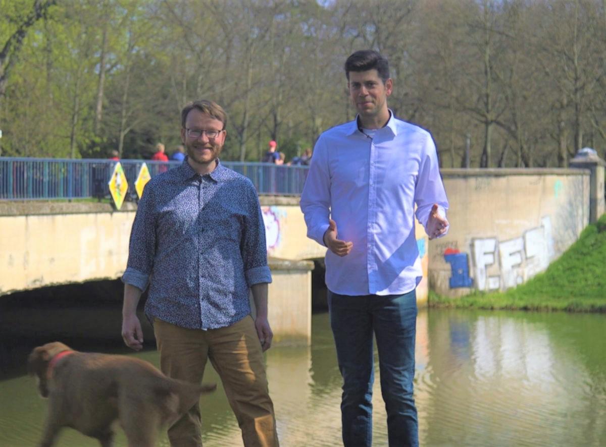 Bart und Martin Sachsenbrücke